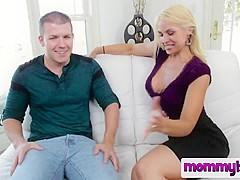 Amazing blowjob by a young blonde MILF