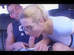 Anal for blonde milf in sexy threesome