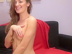 EmmaWilld fingering pussy and masturbate with dildo