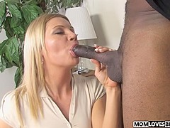 Son is watching mom Christina Skye and a BBC