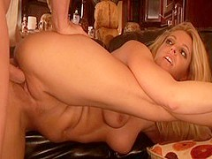 Horny pornstar Hollie Stevens in best blonde sex scene