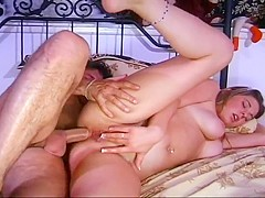 Desperate Blonde Takes An Older Man's Cock