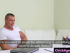 Czech agent dickriding on office couch