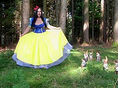 The Busty Dirty Snow White - Fantasy Blowjob Handjob in the Deep Forest - Cum on my Tits