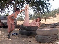 Tyla Wynn, Annie Cruz and Sandra Romain in Whippedass Video
