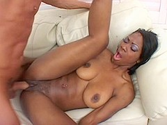 Best pornstar Jackie Brown in amazing big tits, black and ebony sex clip