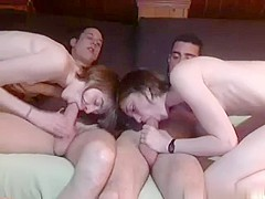 Spanish babe foursome camshow