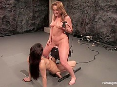 FLOWER TUCCI vs. ANNIE CRUZ inTHE GREAT FUCK OFF OLYMPICS: THE SQUIRTING CHALLENGE