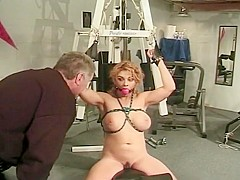 Submissive Slut Syn Gets Her Huge Tits Played With By Eric