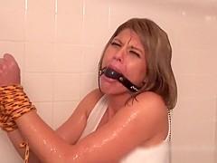 Chelsea Montgomery Shower Bondage HD