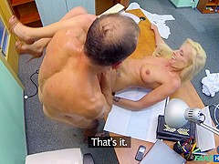 Joana in Sexy suspicious doctors wife has hot sex with him in his office - FakeHospital