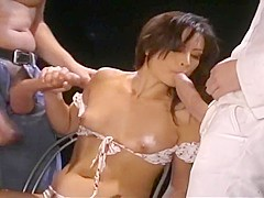 Gorgeous Jayna Oso Takes A DP Power Fuck