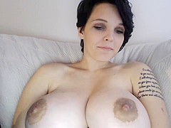 Gorgeous boobs girl webcam show.