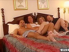 Lesbian Show Turns To Swinging Foursome