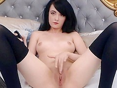 Hot Beautiful college girl Finger Fucks Her Pussy