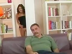 Older fat guy fucks hot chick !!