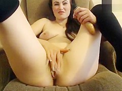 Cam girl Missslady hard fucks herself in the chair