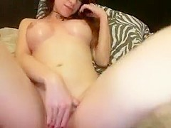 Hot redhead babe on webcam teasing and seducing with her sexy tits and tight pussy