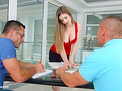 Stella Cox big tit anal hardcore gonzo scene by Ass Traffic