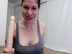 Mouth action on a 12 inch Dildo