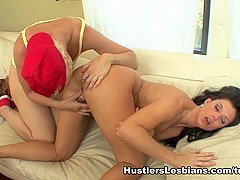 Incredible pornstars Dylan Ryan, India Summer in Amazing Lesbian, Blonde sex clip