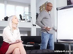 Naughty School Girl Liz Rainbow Gets Some Interracial Ass Play - Private