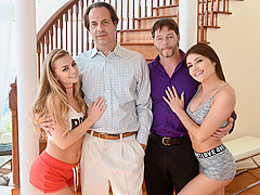 Adria Rae And Cara Stone in The Webcam Turnover - DaughterSwap