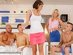 Vinna Reed & Andy West & Jace Reed in Spa Orgies - BiEmpire