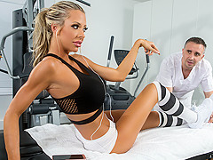 Courtney Taylor & Keiran Lee in Stress Buster - Brazzers