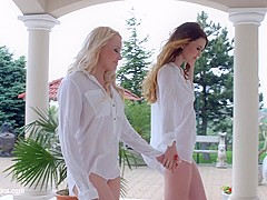 Windy day by Sapphic Erotica   Misha Cross and Lola Taylor lesbians