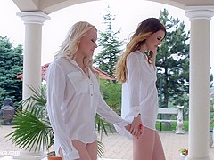 Windy day by Sapphic Erotica   sensual erotic lesbian porn with Misha Cross and Lola Taylor