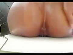Home - This sweat ebony girl play with her tight asshole