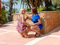 Backyard Rapture by Sapphic Erotica   lesbian love porn with Rikki   Cate