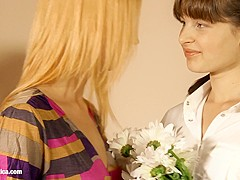 Flower Lovers Minerva and Liona engage in some hot lesbian sex by Sapphic Erotica