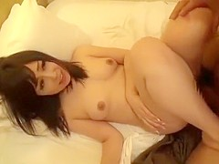 Japanese girl having hard time to handle being licked in the pussy