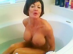 Unbelievable milf takes a bath