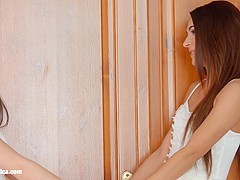 Alexis Brill and Diana Dolce in I missed you lesbian scene by Sapphic Erotica