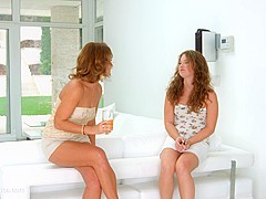 Pre party surprise - lesbian scene with Sylvia Lauren and Bunny Babe by SapphiX