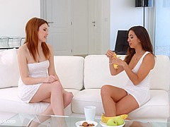 Carnal craving - lesbian scene with Frida Sante and Alegra by SapphiX