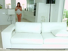 Sensual lesbian scene by Sapphix with Evalina Darling and Tina Kay - Feet massage