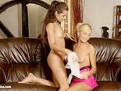 Sensual lesbian scene by Sapphix with Krissy and Sunshine - Sensational Oral