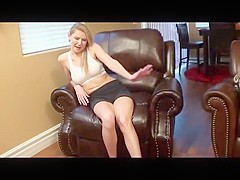 Bare foot a beautiful blonde shows off her soles