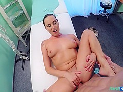 Max in Ripped stud gets the naughty nurses special treatment - FakeHospital