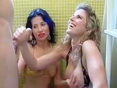 Two Miss massage pin in the shower