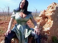 Busty Nasty Little Latex Diva - Blowjob Handjob with Red Nails - Cum on my Tits