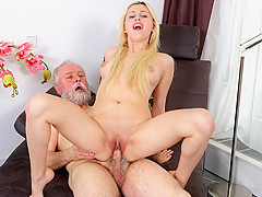 Ellen Jess in Sexy blonde gets picked up and fucked by dirty old man - OldGoesYoung