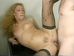 Stocking Loving Hottie Speared in Ass