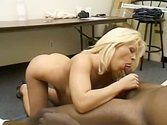 Blond Chick Loves to Suck Black Dick