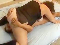 Cheating whore wife servicing an hispanic cock