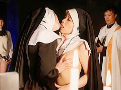 Lesbian action with freaky Japanese nuns - AviDolz